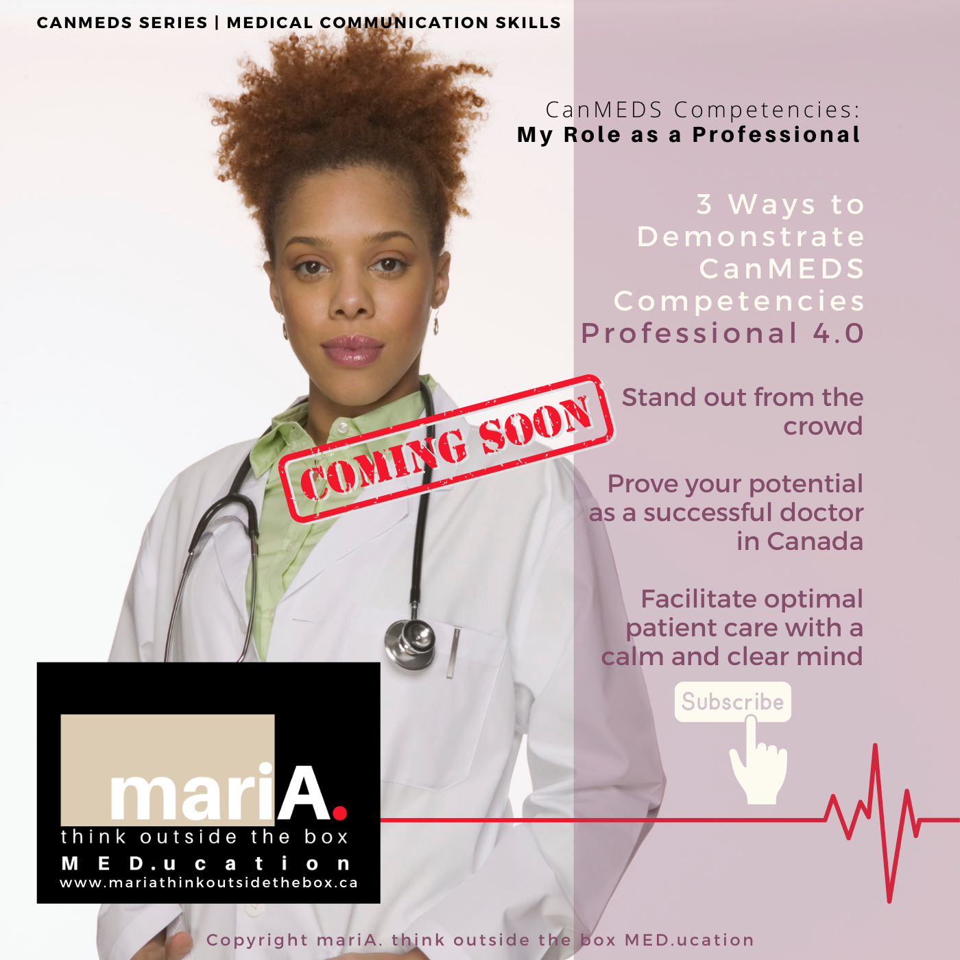Black Female Doctor promoting Physician professionalism in Canada
